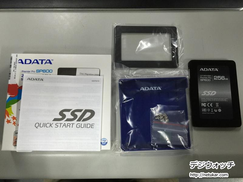 ASP600S3-256GM-C内容物