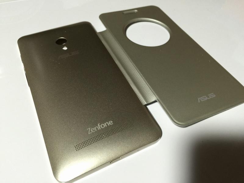 Zenfone5用フリップカバー 外側
