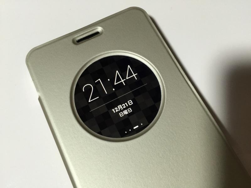 Zenfone5用フリップカバー 時計表示