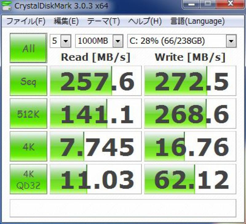 ASP600S3-256GM-C 速度