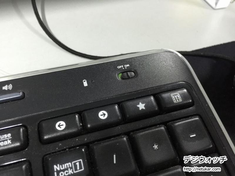 Logicool MK520電源