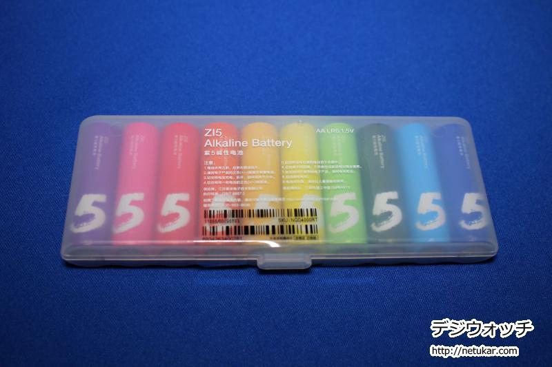 小米(xiaomi)でカラフルな単3電池を購入してみた